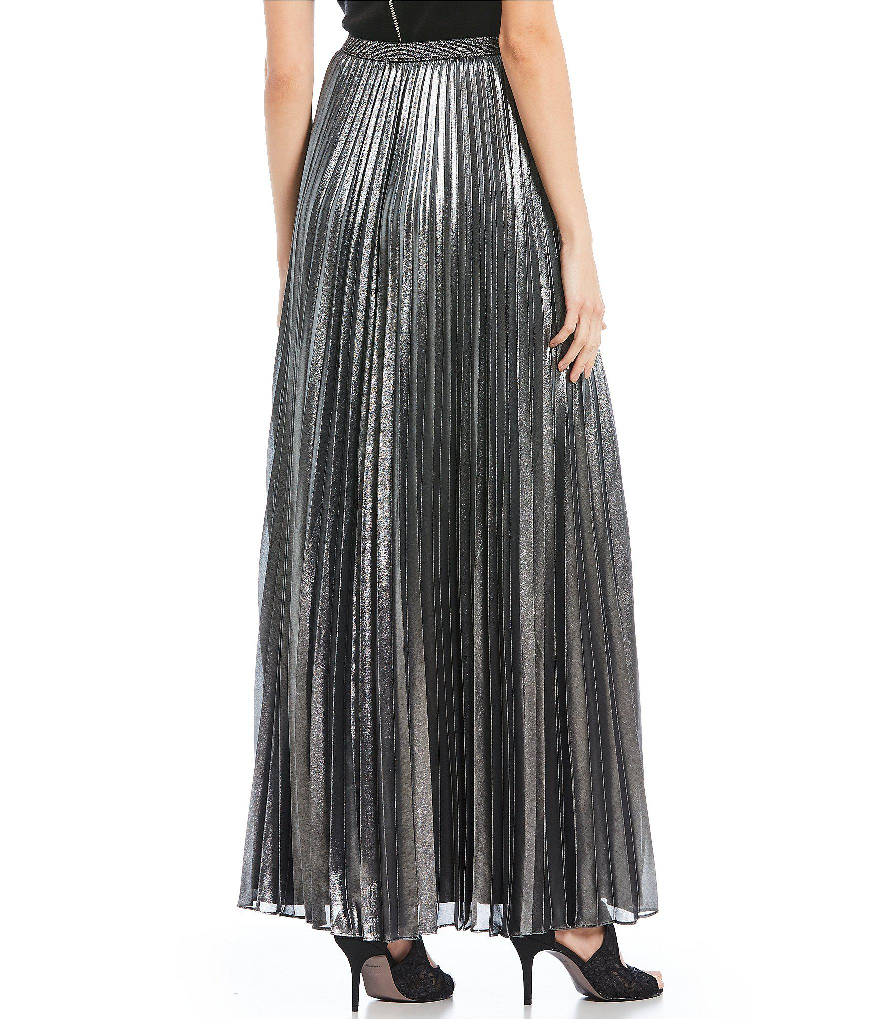 6d0f6684ea1e0 Eliza J - Accordion Pleated Metallic Maxi Skirt - Lyst. View fullscreen