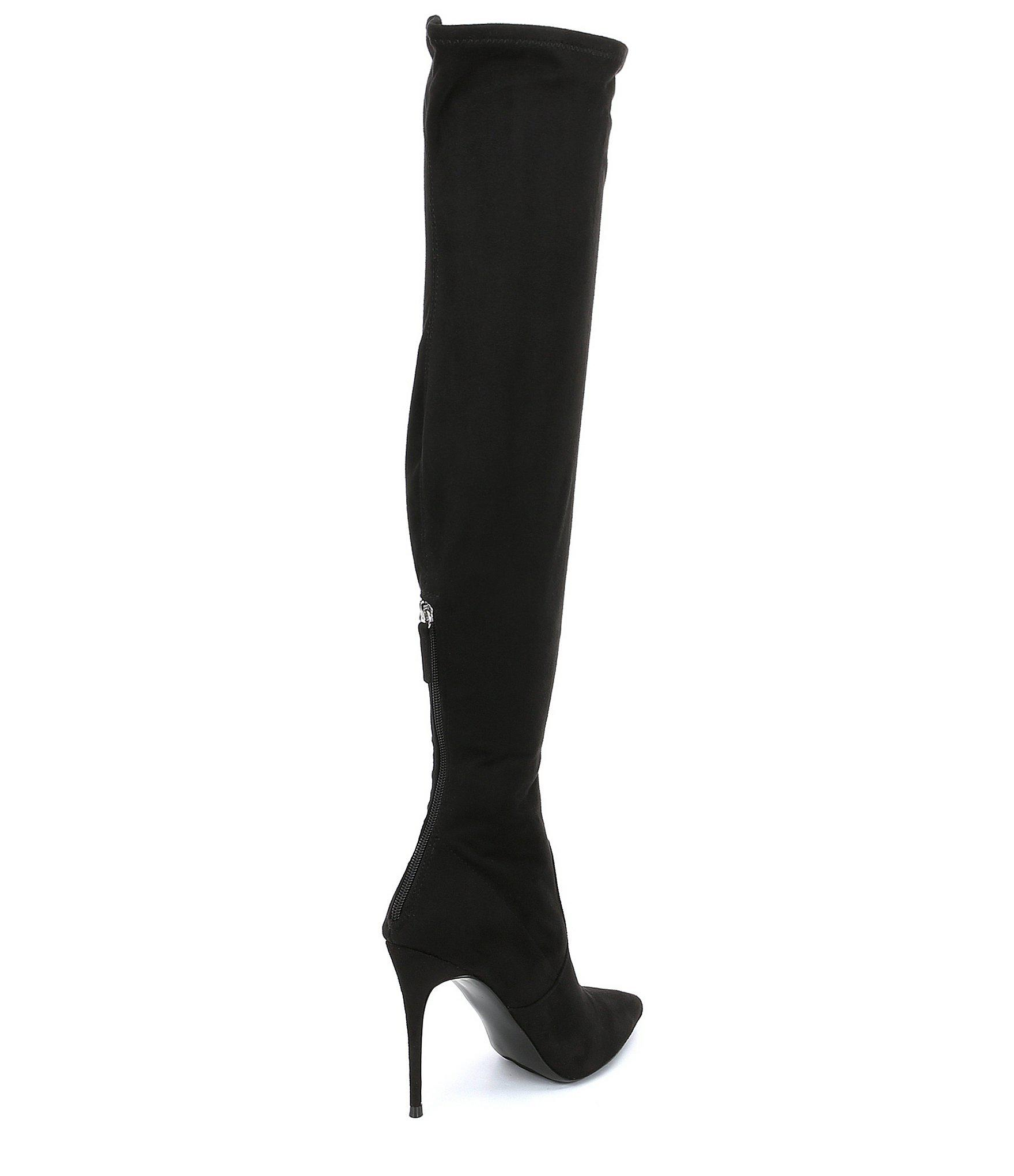 935593a6e9a Lyst - Steve Madden Devine Stiletto Over The Knee Boots in Black