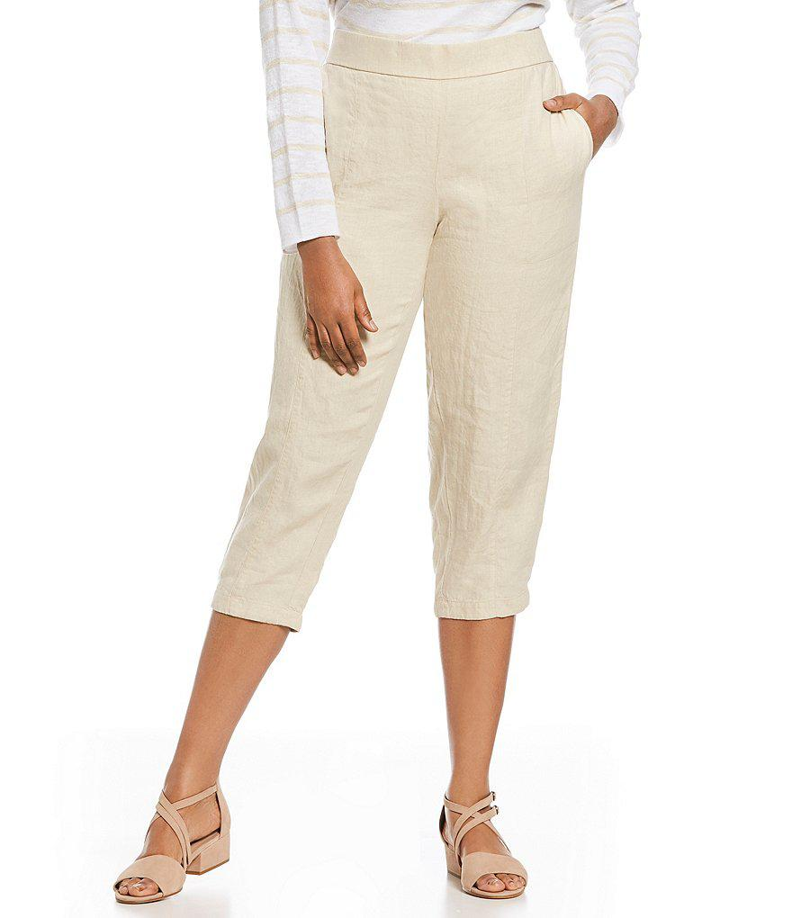 f6439a4bfcd Lyst - Eileen Fisher Plus Size Pull-on Ankle Pants in Black