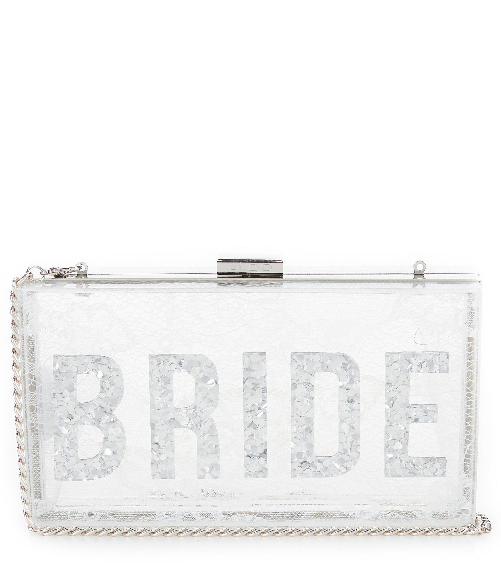 f4428bf9a678 Lyst - ALDO Lillooet Lucite Bride Clutch in White