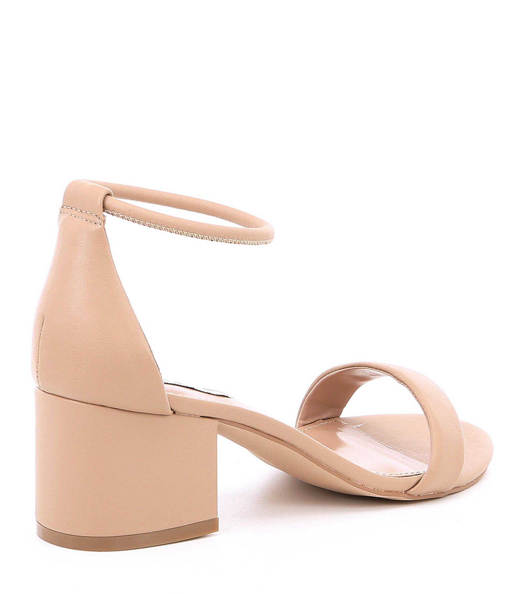 6579621eec0 Steve Madden - Natural Ibbie Block Heel Sandals - Lyst. View fullscreen
