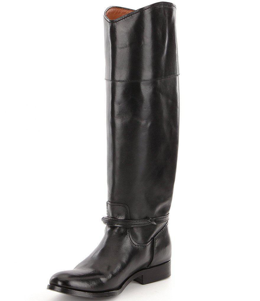 Frye Melissa Seam Tall Wide Calf Block Heel Riding Boots Oc4lKmDK