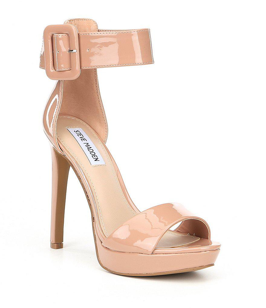 a1f0a9c5bfd Lyst - Steve Madden Circuit Patent Dress Sandals in Black