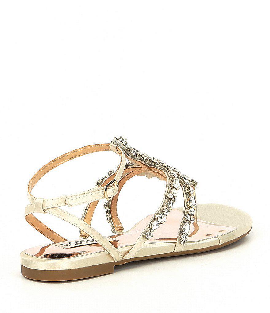Hampden Satin Jeweled Ankle Strap Sandals QdrKNgO4t