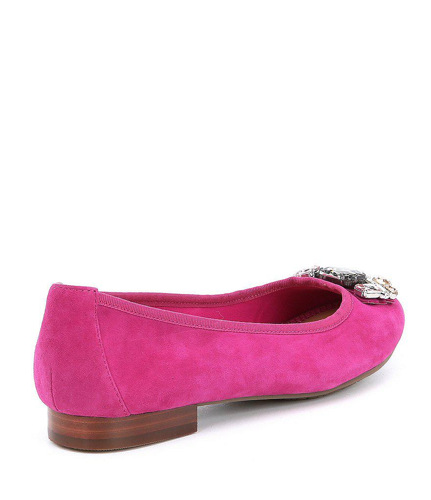 Me Too Sapphire Suede Jeweled Flats Y8nHsNskr