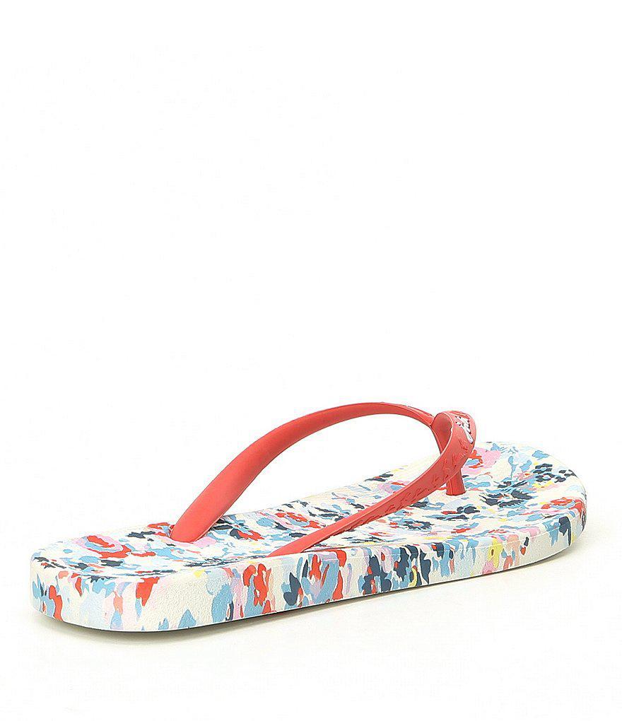 Joules Printed Garden Floral Flip Flop Sandals JwBoLFMF55