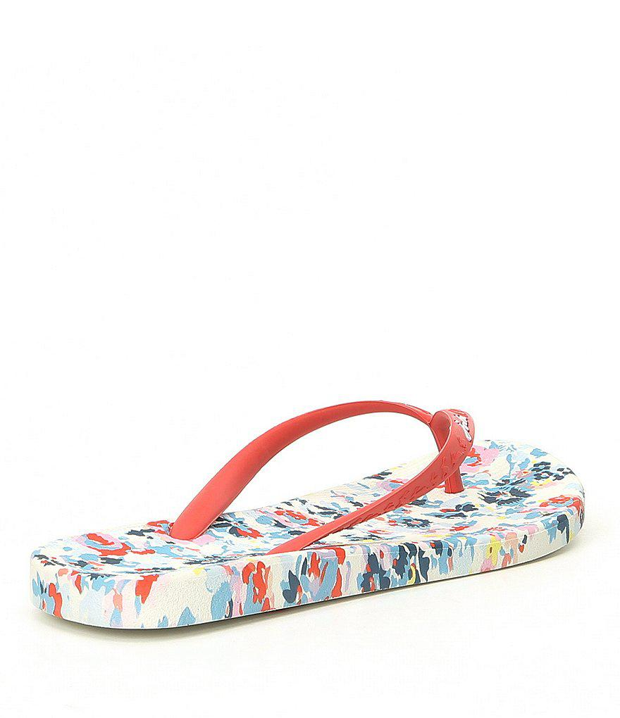 Joules Printed Garden Floral Flip Flop Sandals MTNcthzRMu