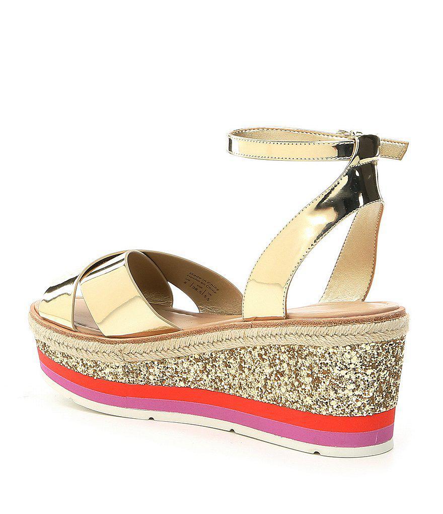 Asiella Metallic Glitter Flatform Sandals tQ8OzRw