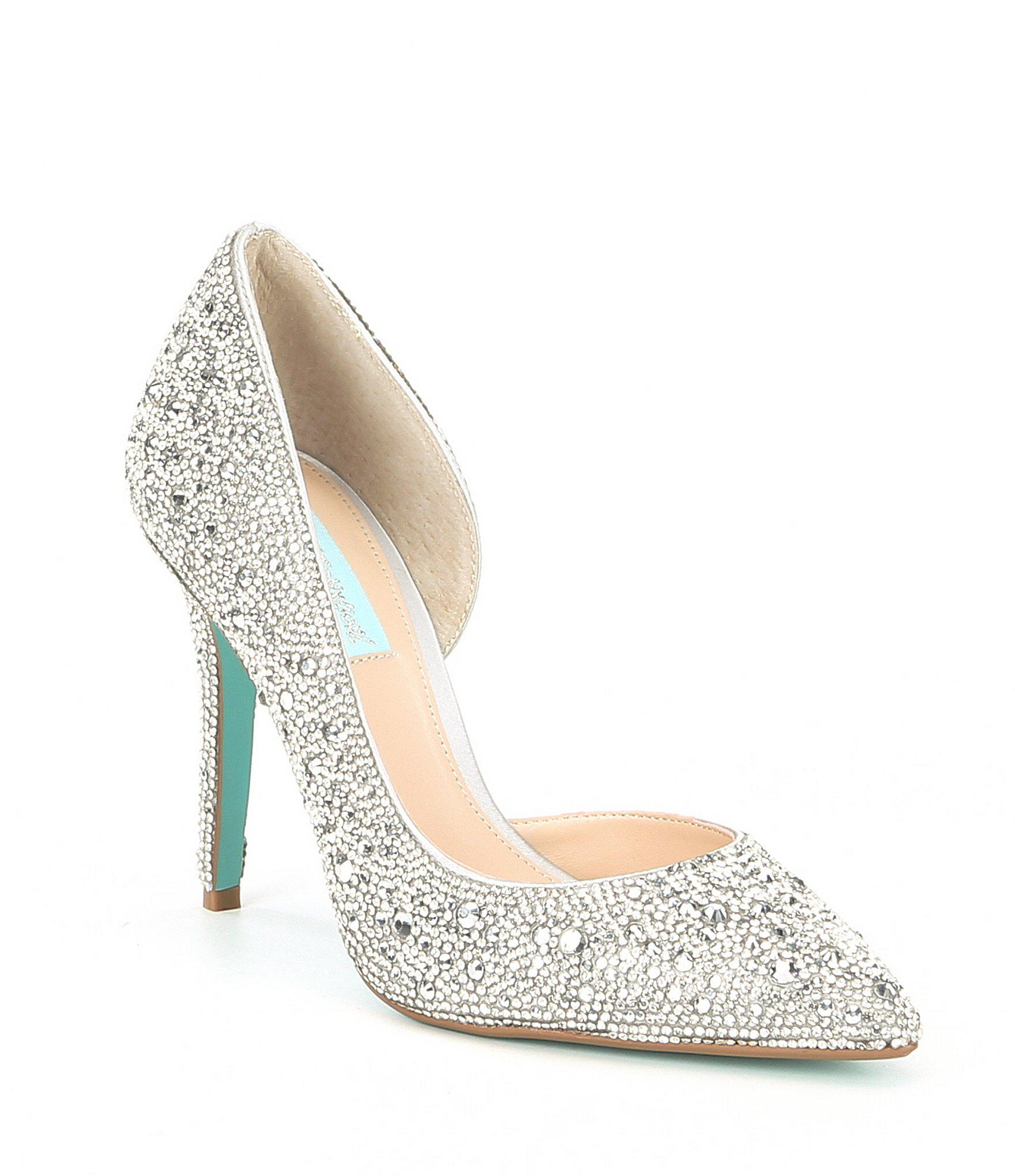 4cd34ea4c25 Lyst - Betsey Johnson Blue By Hazil Jeweled Pumps in Metallic