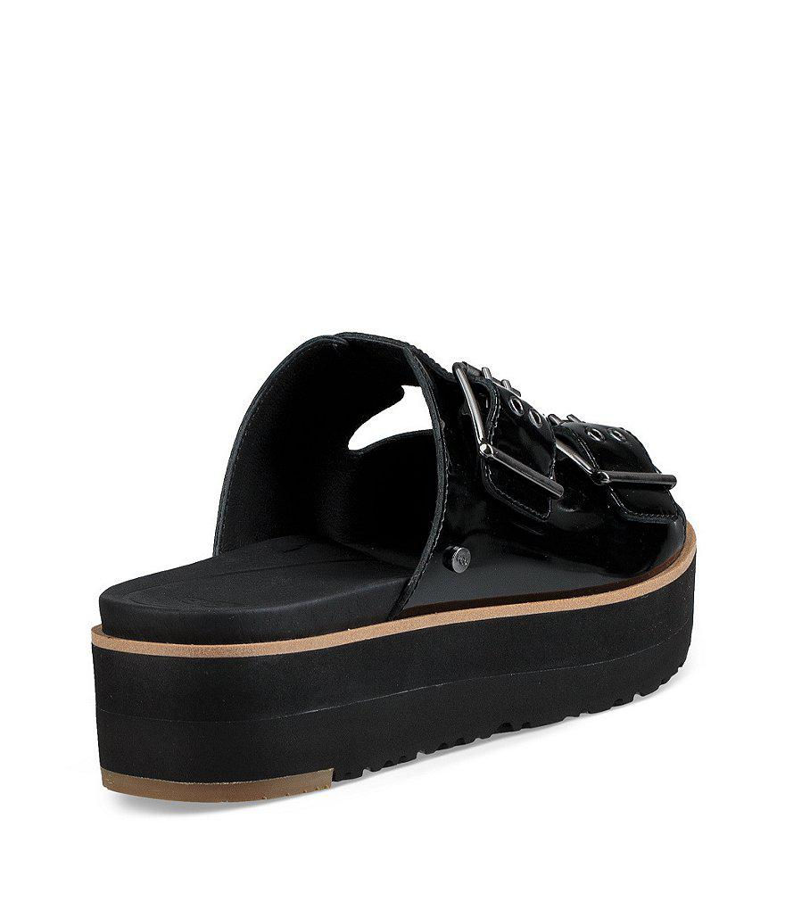 Cammie Patent Leather Buckle Slides