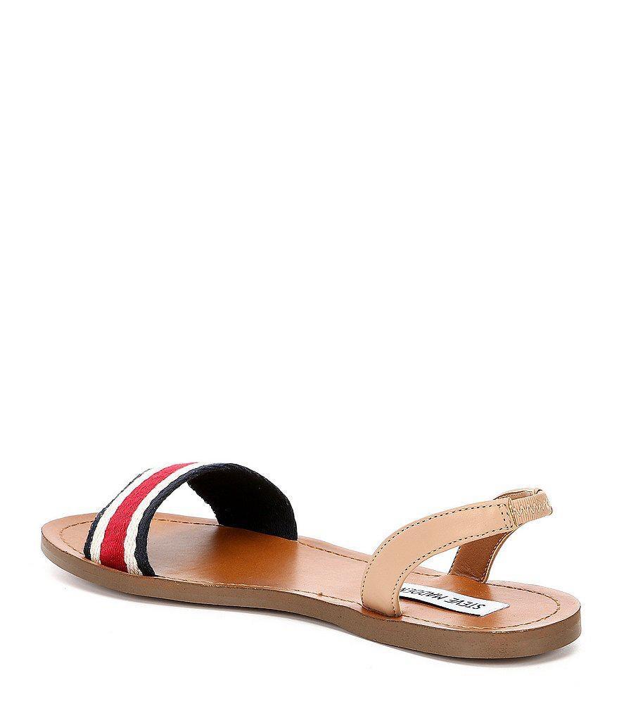 Abella Striped Slingback Sandal V8E09