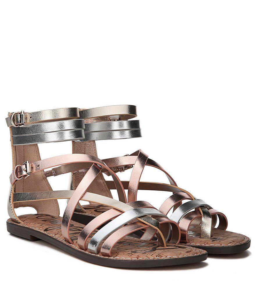 Ganesa Leather Gladiator Sandals S4GhmLMW8a
