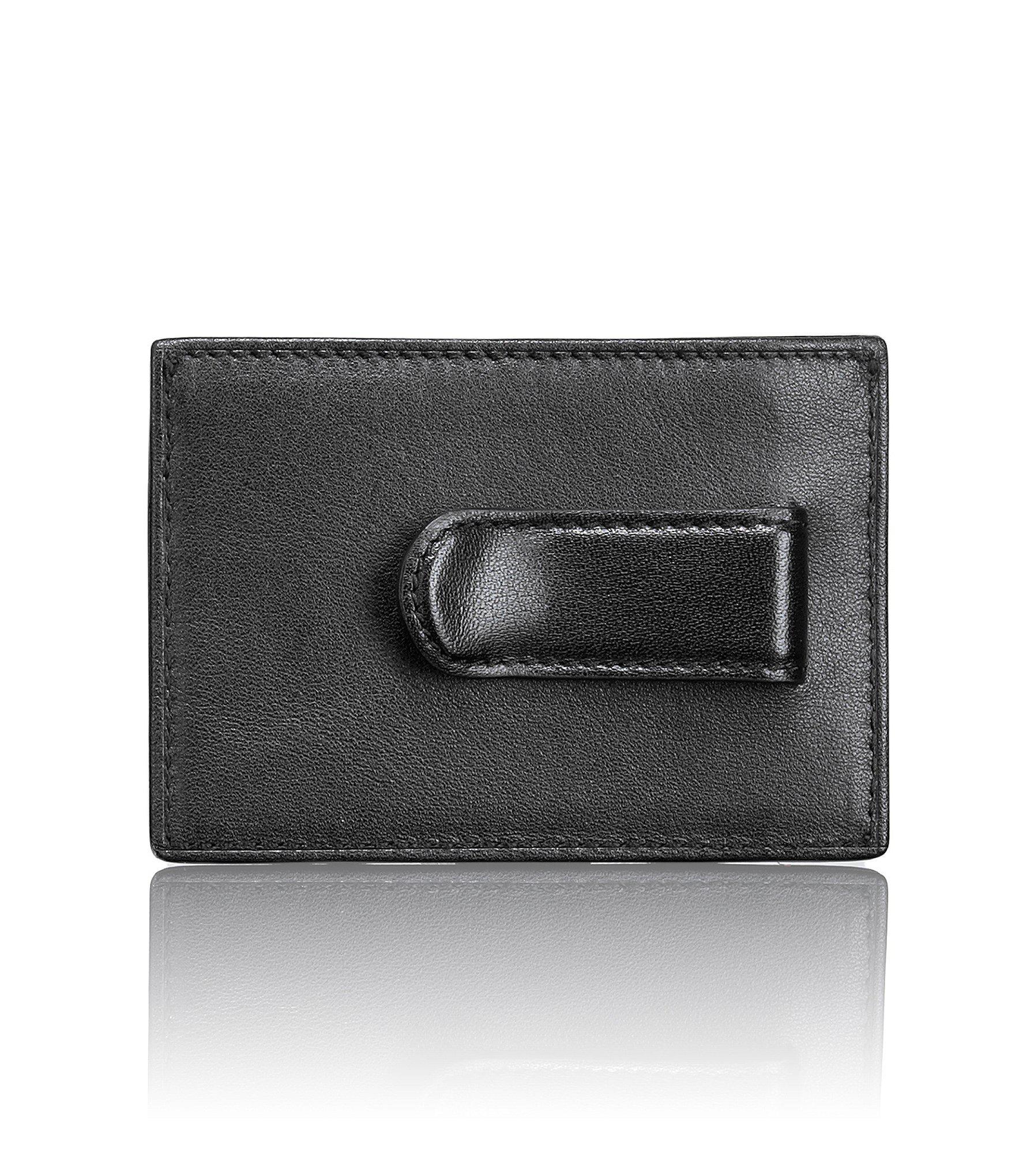 33568a2f566f05 Tumi - Black Id Lock Contrast Stitching Slim Card Case for Men - Lyst. View  fullscreen
