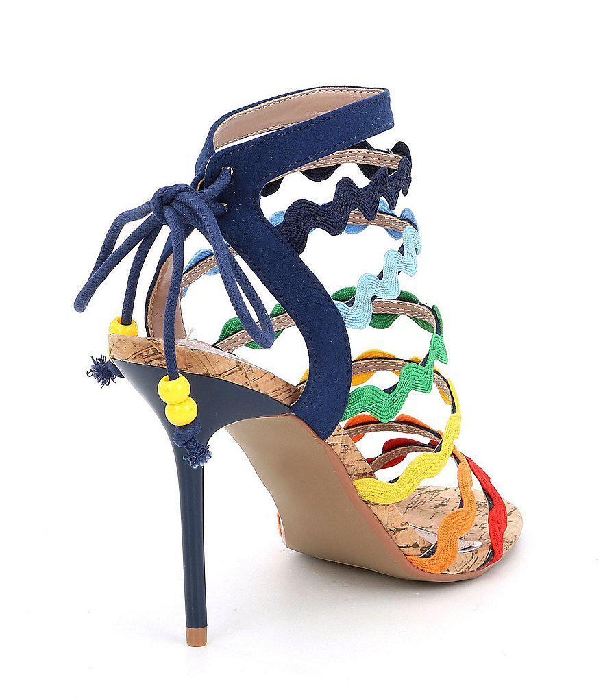 Cali Rainbow Strappy Dress Sandals O4ZPF7dk