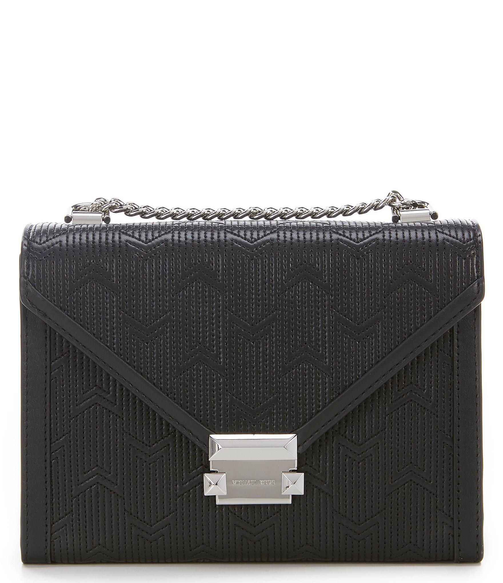 18f754ea31d6 Lyst - MICHAEL Michael Kors Whitney Large Quilted Shoulder Bag in Black