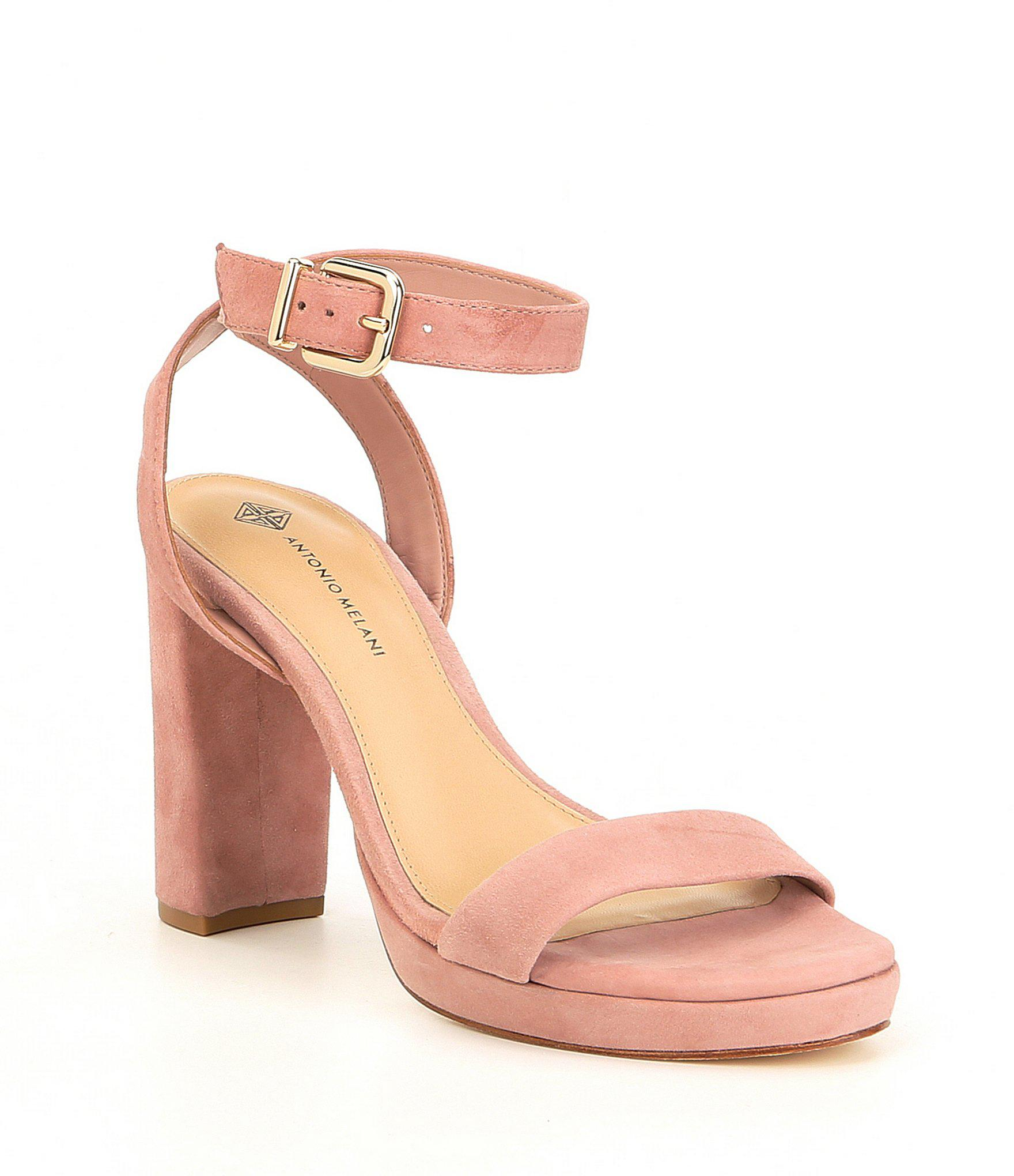 244672dc51a Lyst - Antonio Melani Sarita Suede Platform Dress Sandals in Pink