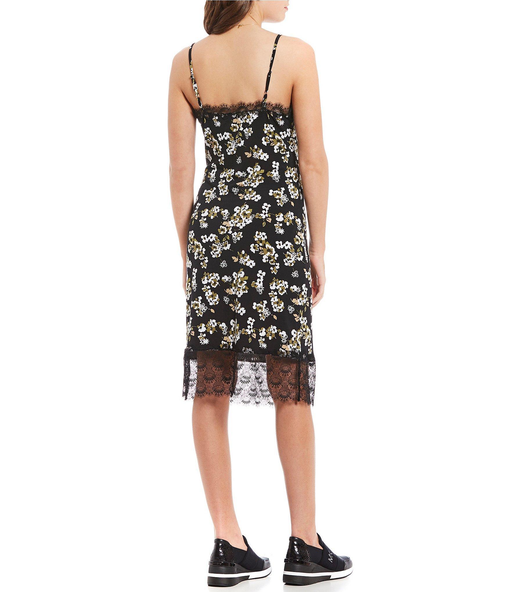 dd86366aada9 Lyst - MICHAEL Michael Kors Glam Painterly Fleur Floral Print Lace ...