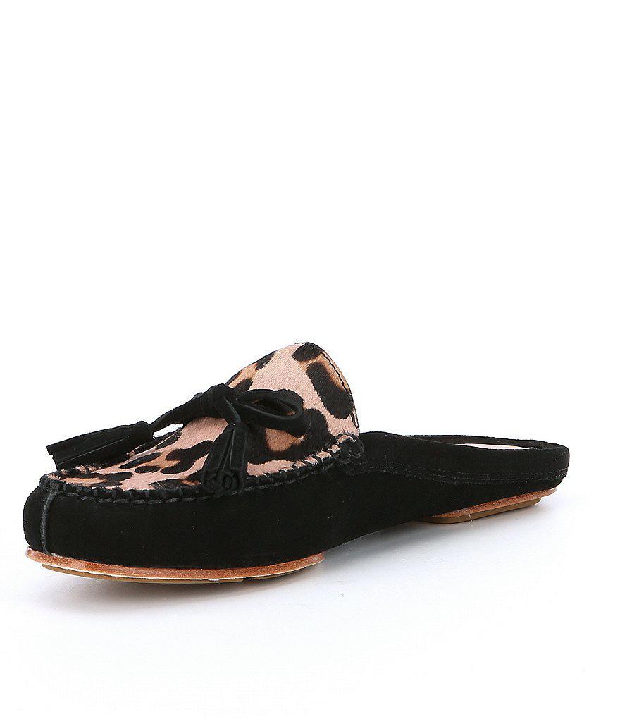 c5ff010cb7a7 Lyst - Kate Spade Matilda Calf Hair Mules in Black