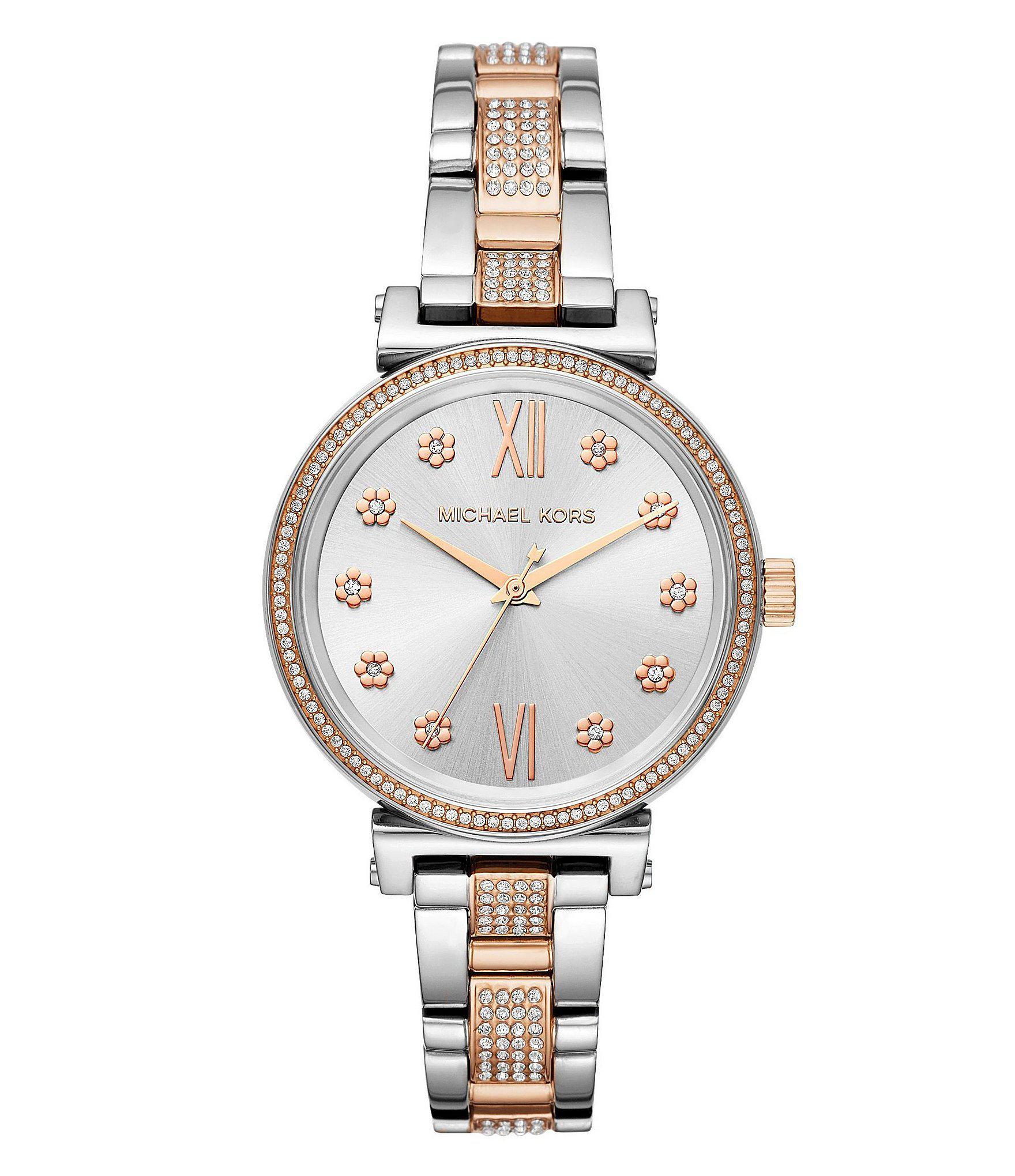 2a07e41c5b2e Michael Kors - Metallic Women s Mini Sofie Two-tone Watch - Lyst. View  fullscreen