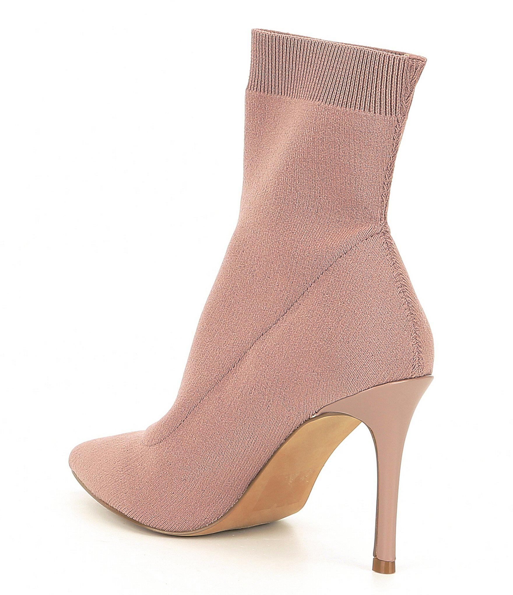 2ebddf052d8 Lyst - Steve Madden Claire Knit Stiletto Booties