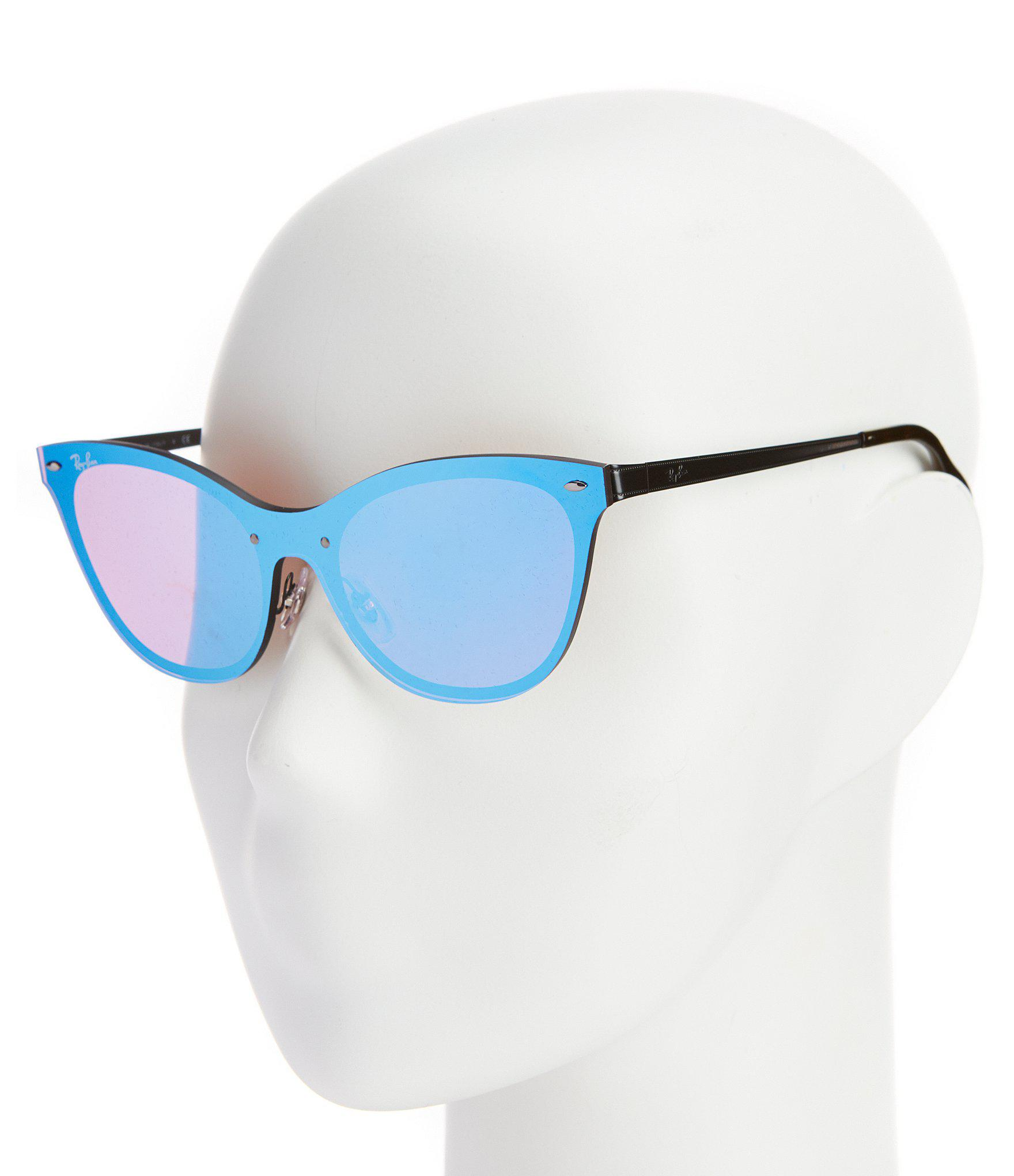 Ray-Ban - Blue Blaze Collection Cateye Rimless Mirrored Lens Sunglasses -  Lyst. View fullscreen 5ed7f383c26