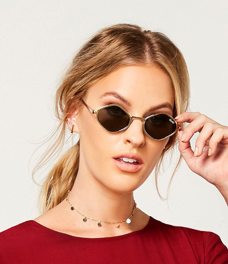 ee150c9fa7 Quay Purple Honey Geometric Sunglasses - Lyst