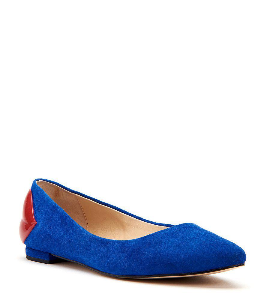 The Fleur Patent Lips Suede Ballet Flats 4seQBrg