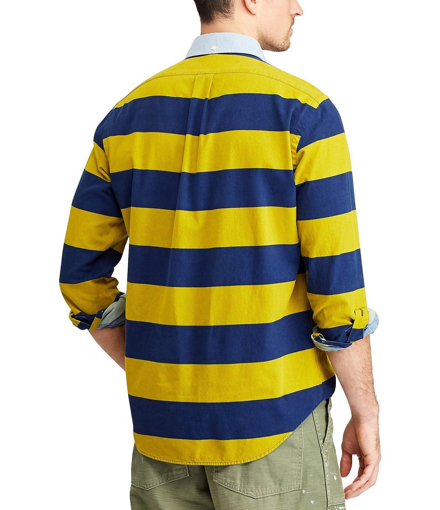 200f2bbe Polo Ralph Lauren Yale Tiger Patch Long-sleeve Woven Shirt in Yellow ...