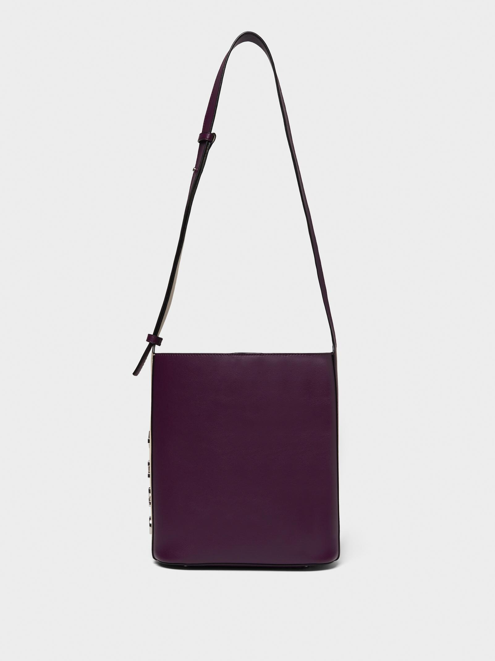 77b1d07d98 Women s Purple Bedford Colorblock Leather Bucket Bag