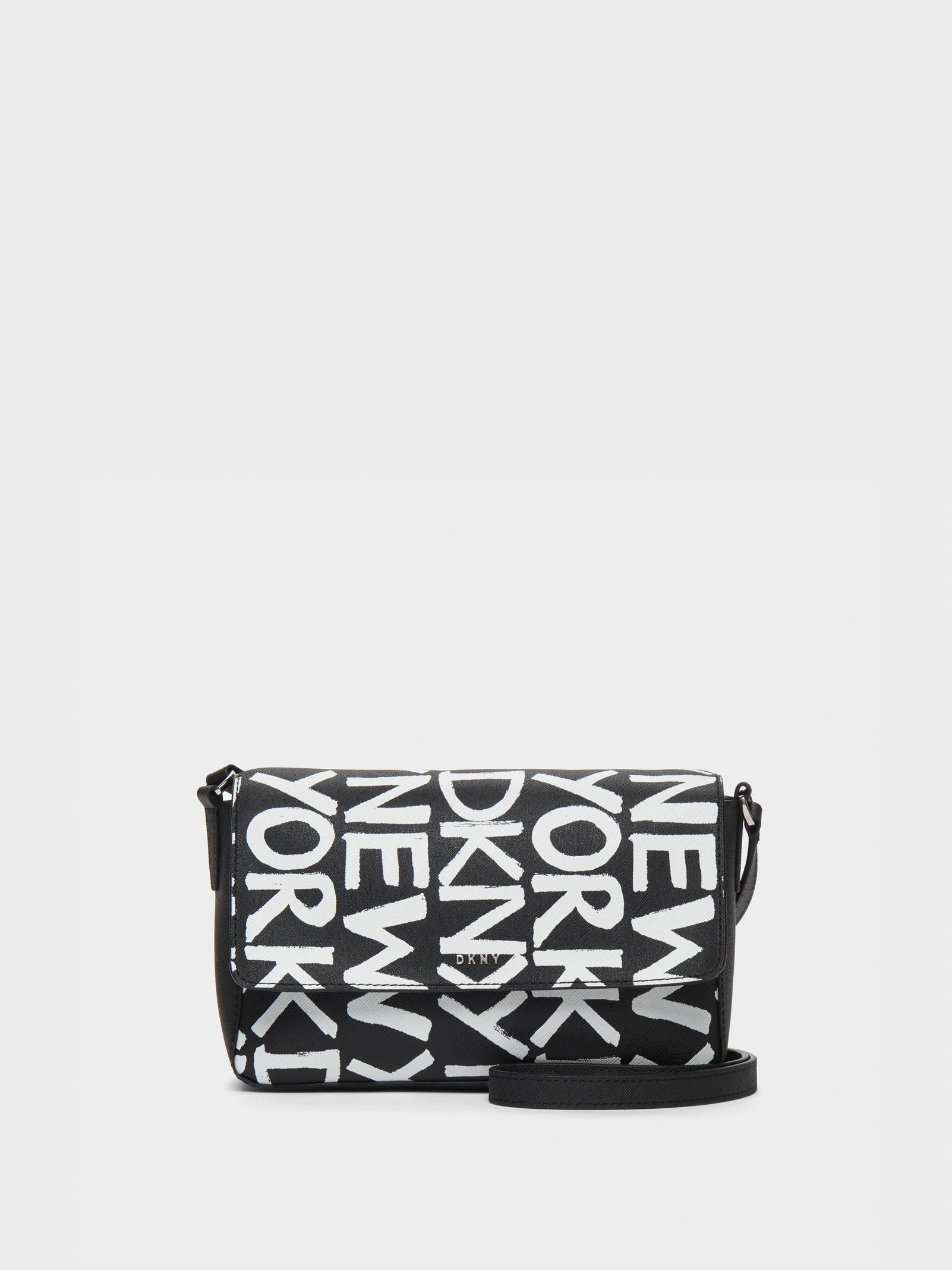 DKNY - Black Brayden Printed Flap Crossbody - Lyst. View fullscreen ae8e3abe44f7a