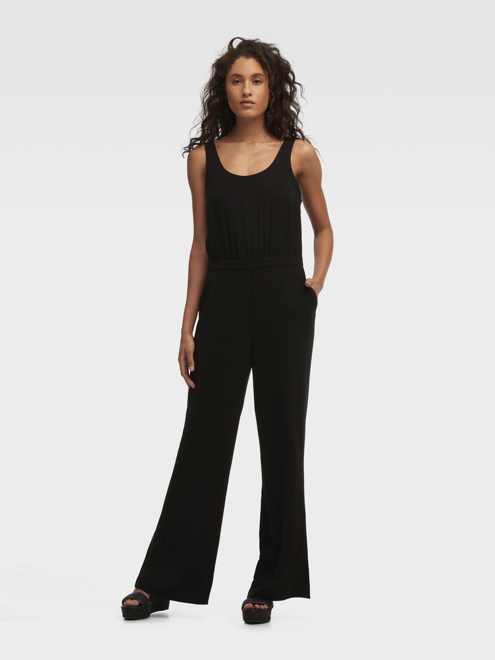 cedf5db5c770 Lyst - DKNY Wide Leg Sleeveless Jumpsuit in Black