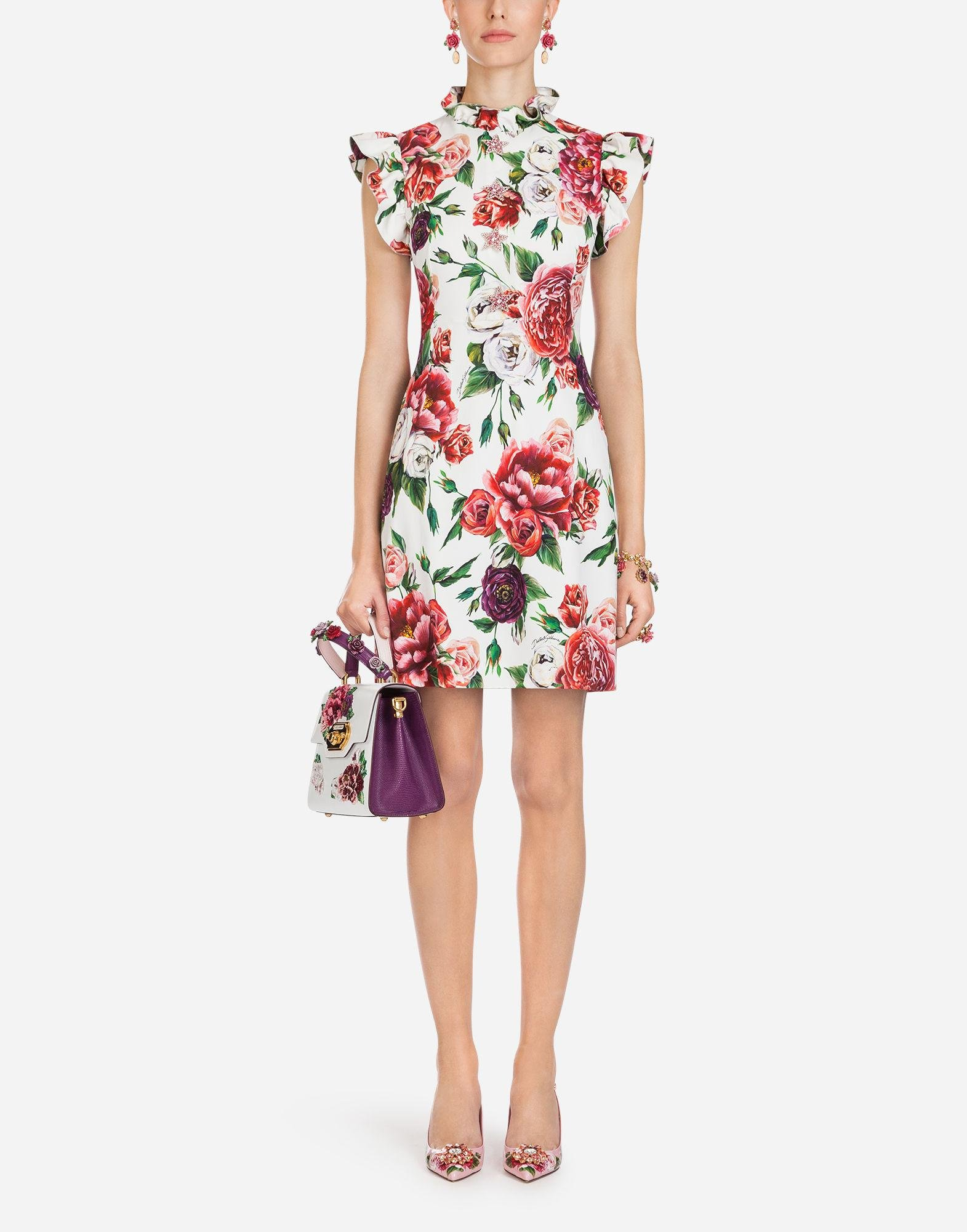 High Quality For Sale Outlet Original Peony Print Cady dress - Multicolour Dolce & Gabbana Cheap Latest Collections Clearance Online Ebay XsrWibvpw