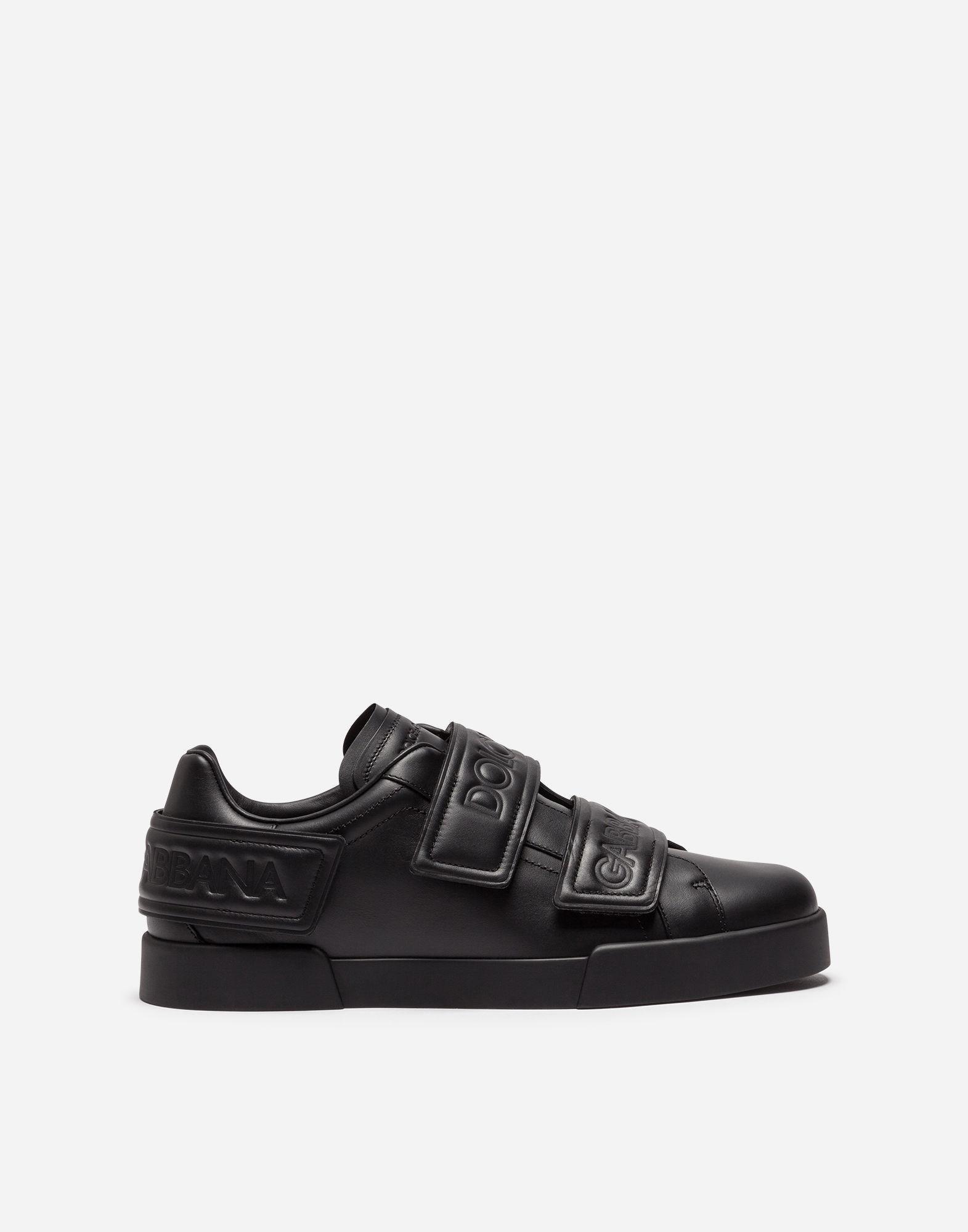 Sneaker PORT LIGHT calfskin Logo black silver white Dolce & Gabbana Fashionable Sale Online Cheap Shop Offer xnGoptQWDG
