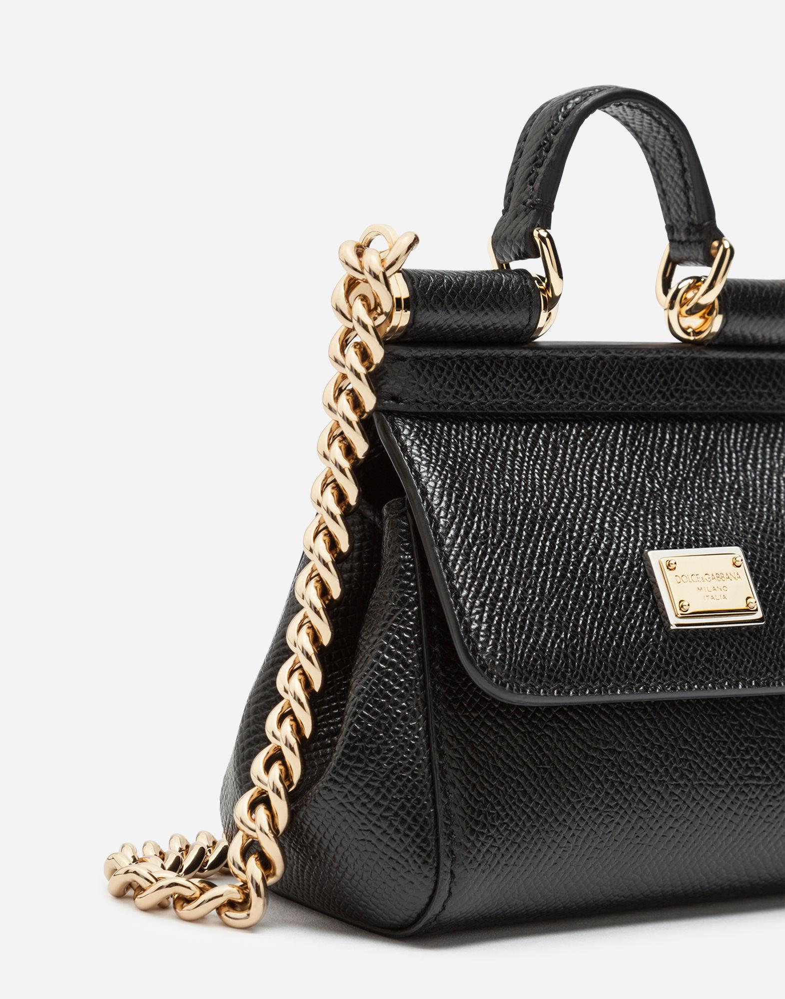 Lyst - Dolce   Gabbana Sicily Handbag In Printed Dauphine Calfskin in Black 3f674e610bdce