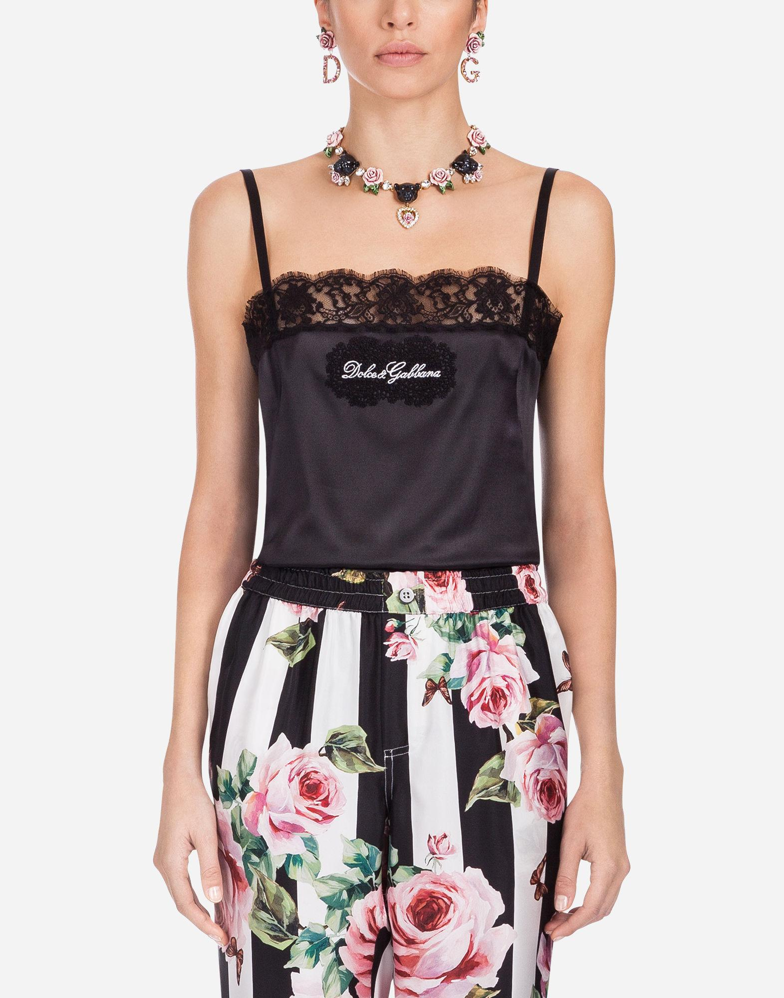 Cheap Sale Best Place Silk top Dolce & Gabbana Buy Cheap Discounts Affordable Cheap Price FLyVJq