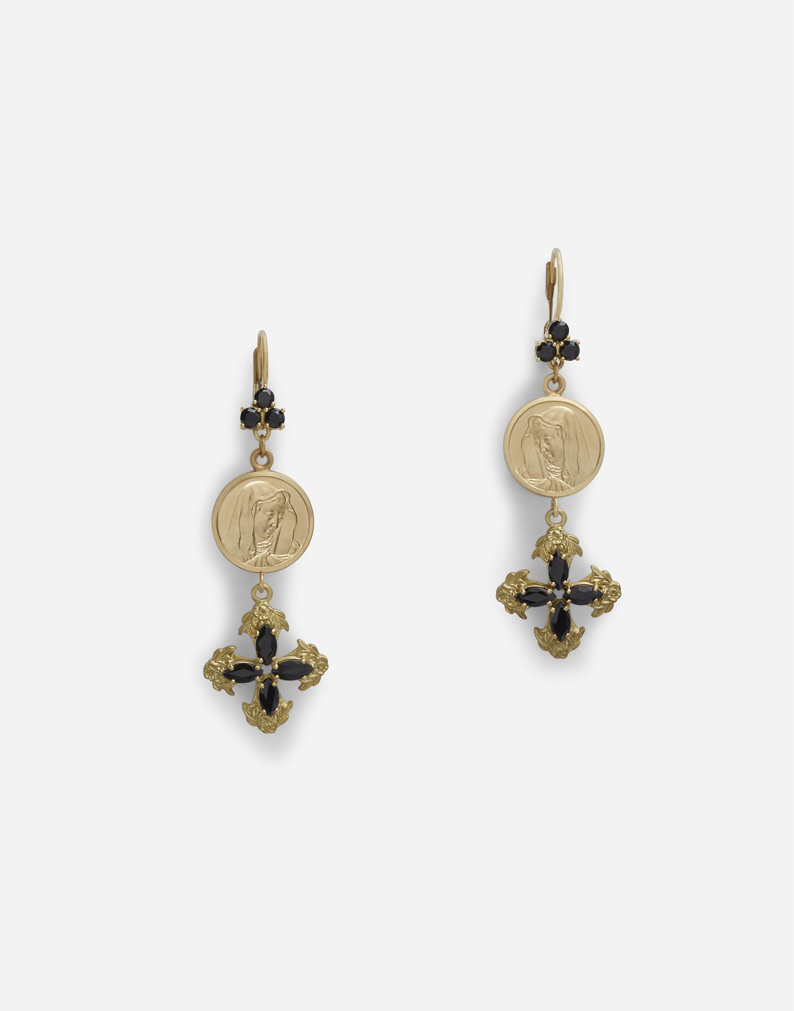 de55f1c58 Dolce & Gabbana Drop Earrings With Sapphires in Metallic - Lyst