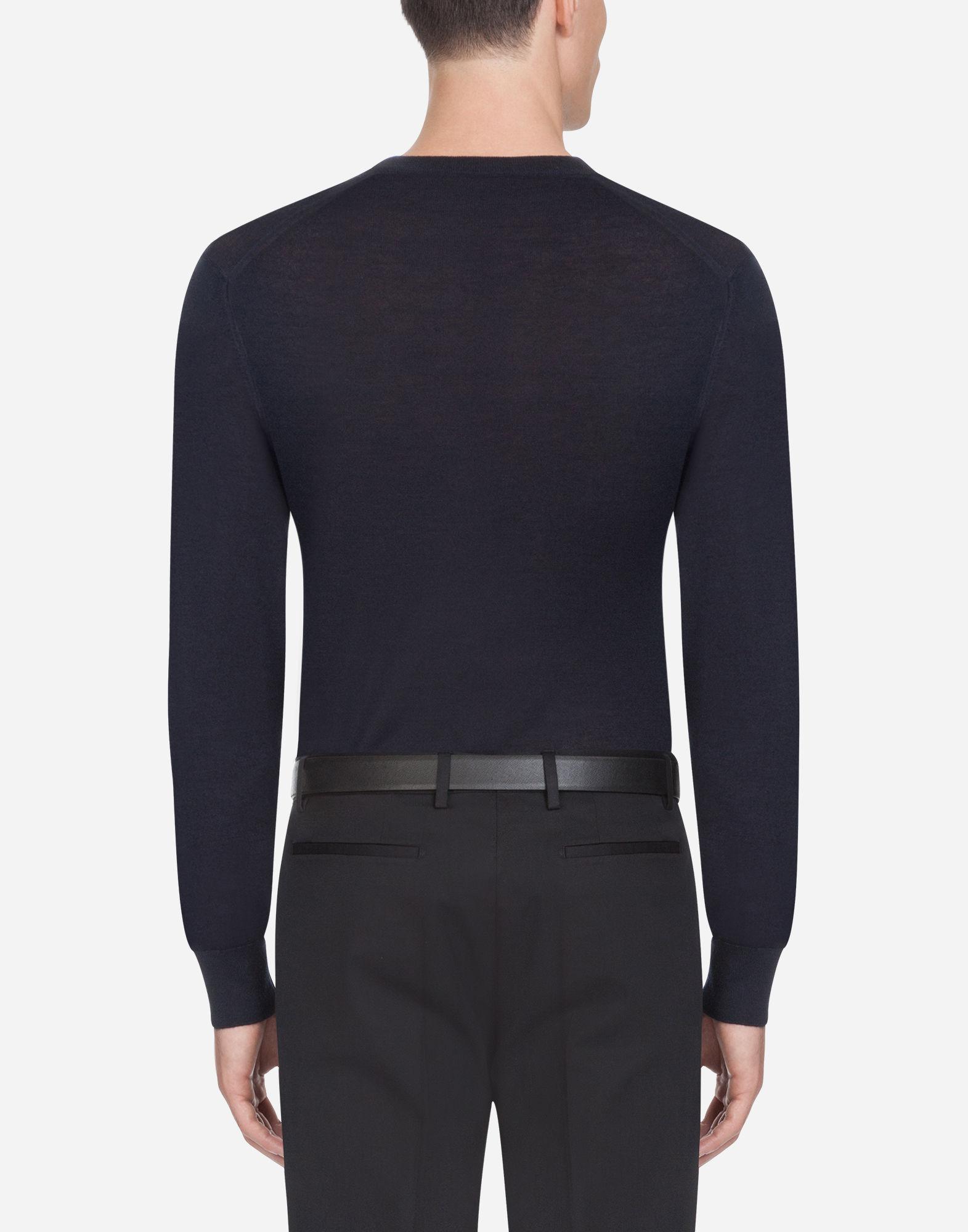 fc3028b0 Lyst - Dolce & Gabbana Crewneck Sweater In Cashmere in Blue for Men