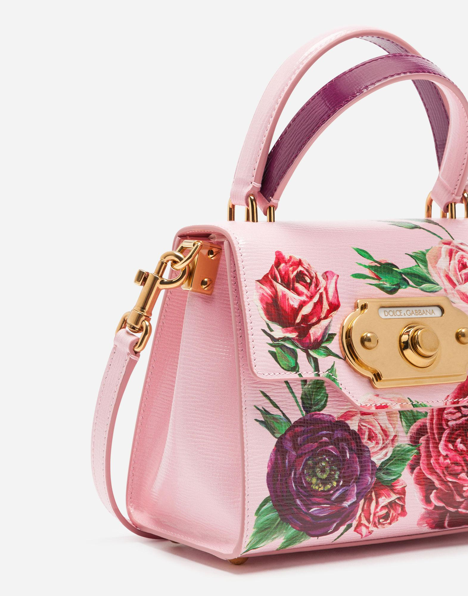 5d19f58dd2 Lyst - Dolce   Gabbana Small Welcome Bag In Peony-print Boarded ...