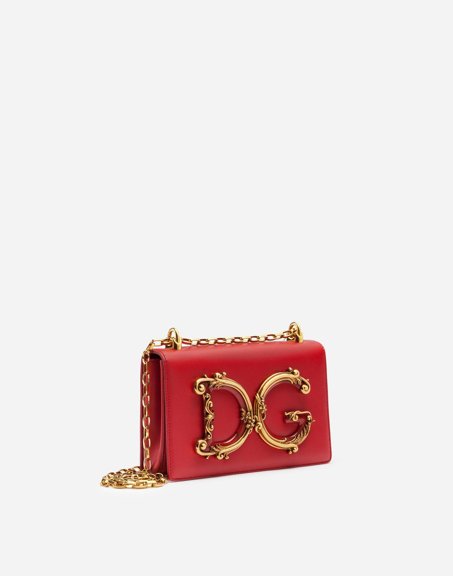 a65626efcf5a Lyst - Dolce   Gabbana Dg Girls Shoulder Bag In Nappa Leather in Red
