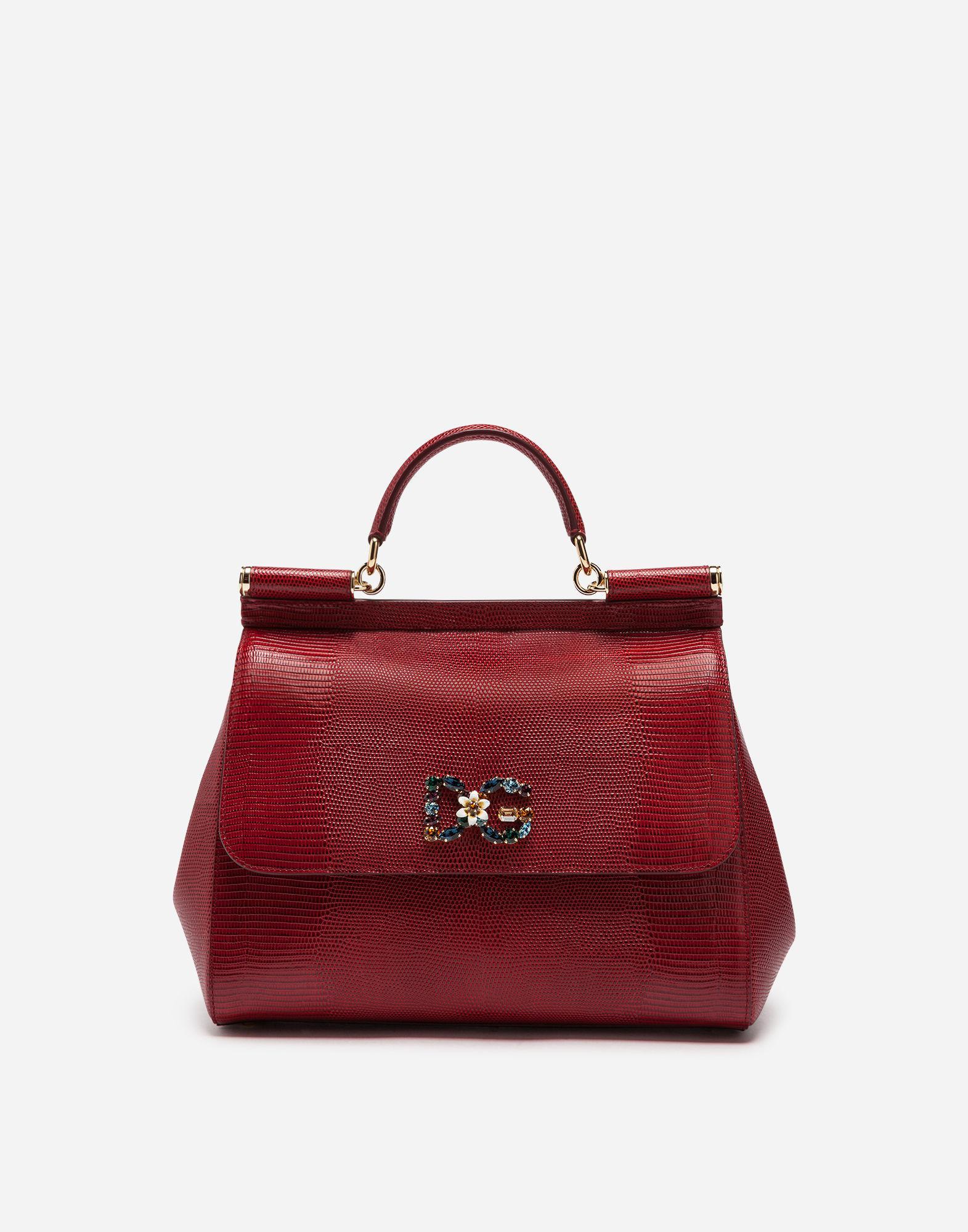 a3a730f196e5 Lyst - Dolce   Gabbana Sicily Handbag In Iguana Print Calfskin And ...