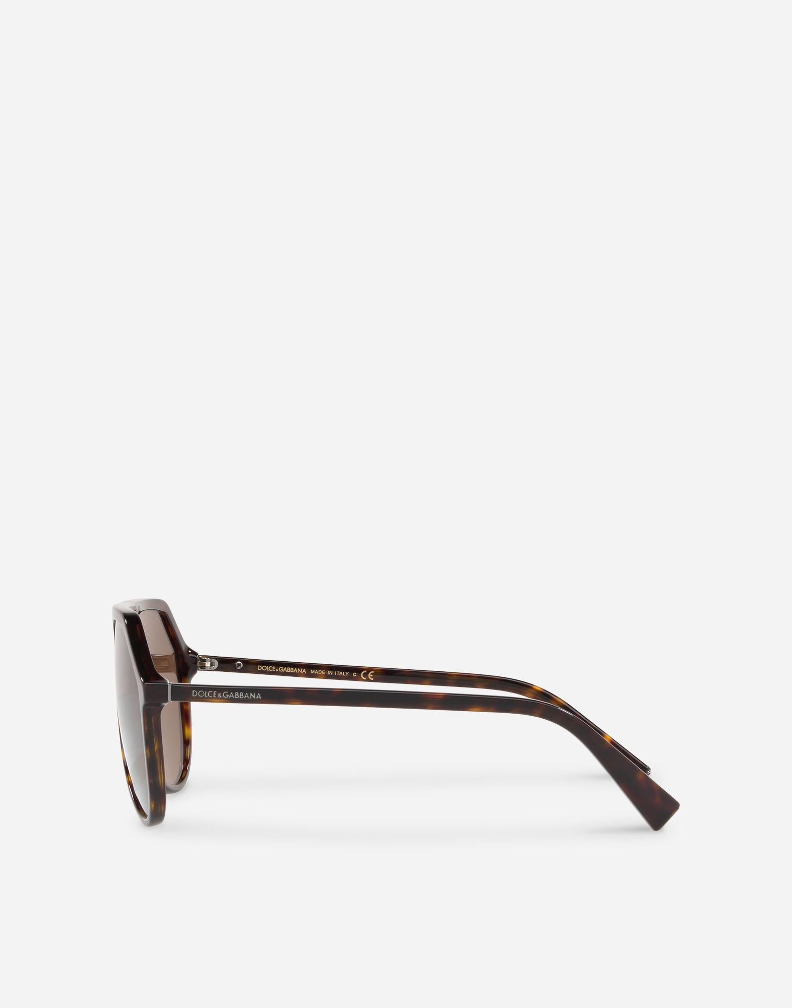 48295df0c36 Dolce   Gabbana Pilot Acetate Sunglasses With Keyhole Bridge in ...