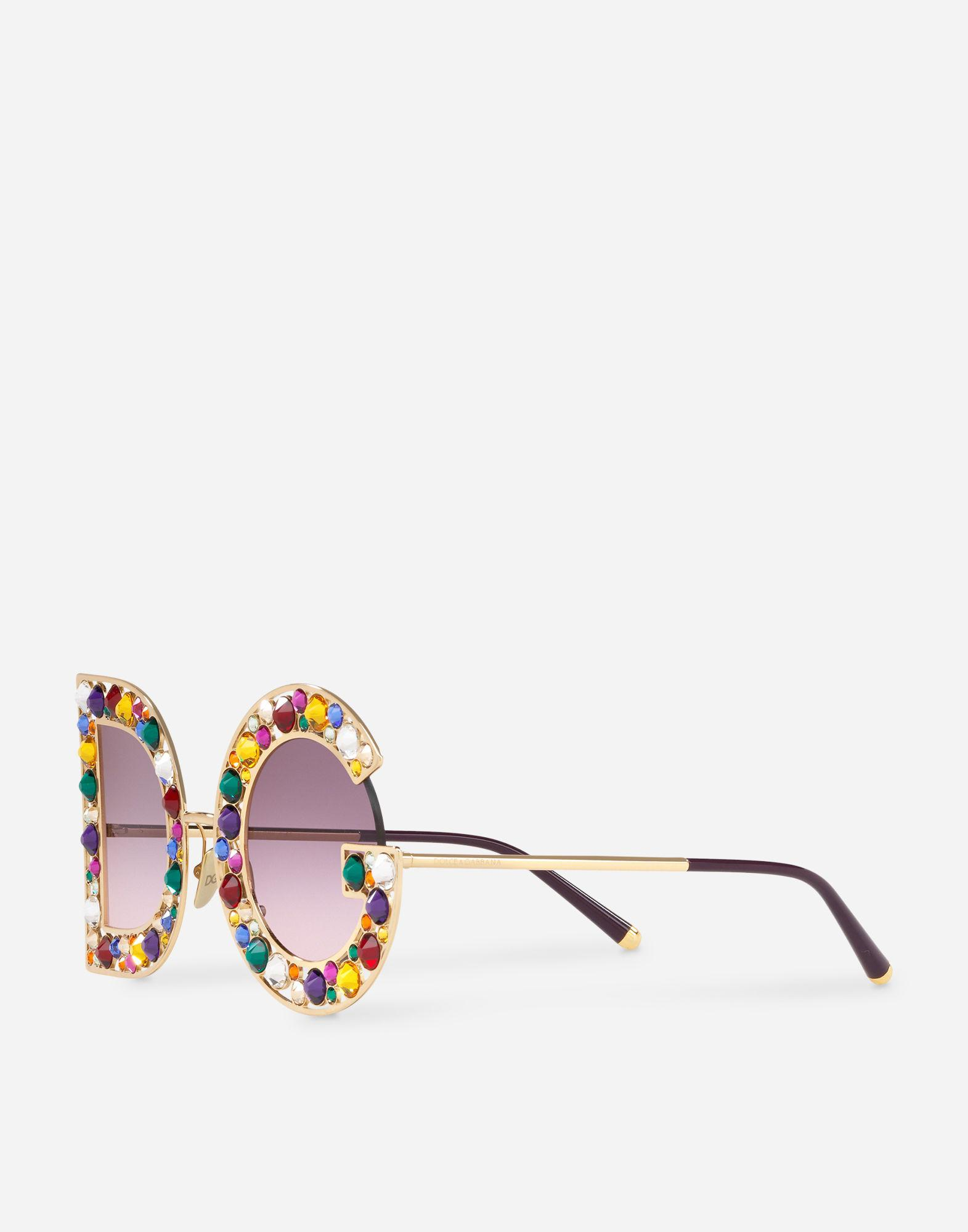 aea22c1bff6 Lyst - Dolce   Gabbana Dg Crystal Sunglasses in Metallic