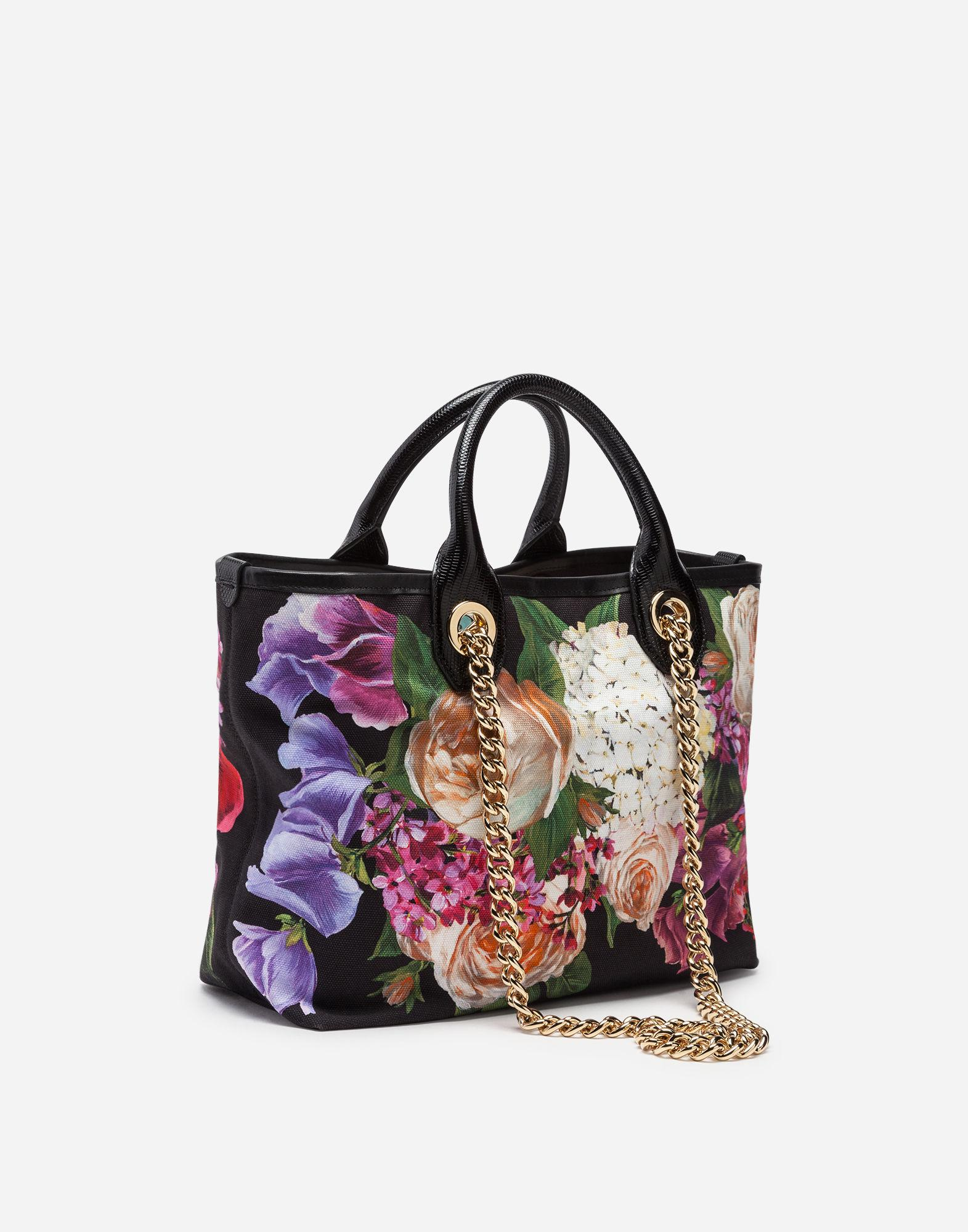 204b4621c0 Lyst - Dolce   Gabbana Capri Shopping Bag In Printed Canvas