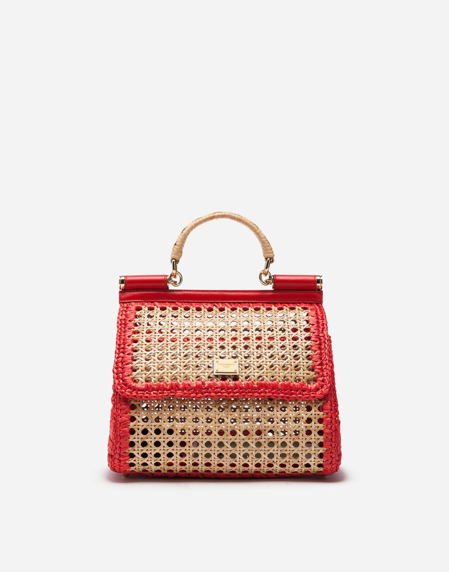6b013c0b18 Lyst - Dolce   Gabbana Medium Sicily Bag In Mix Of Materials in Red ...