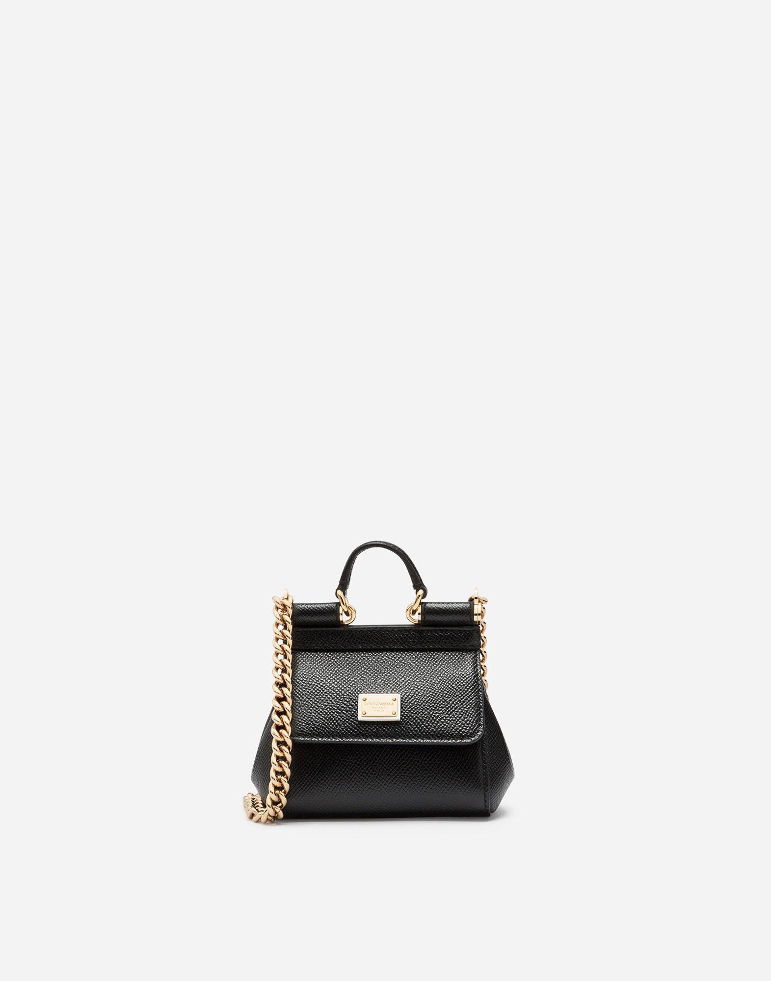 Dolce   Gabbana. Women s Black Sicily Handbag In Printed Dauphine Calfskin 75f291bdda