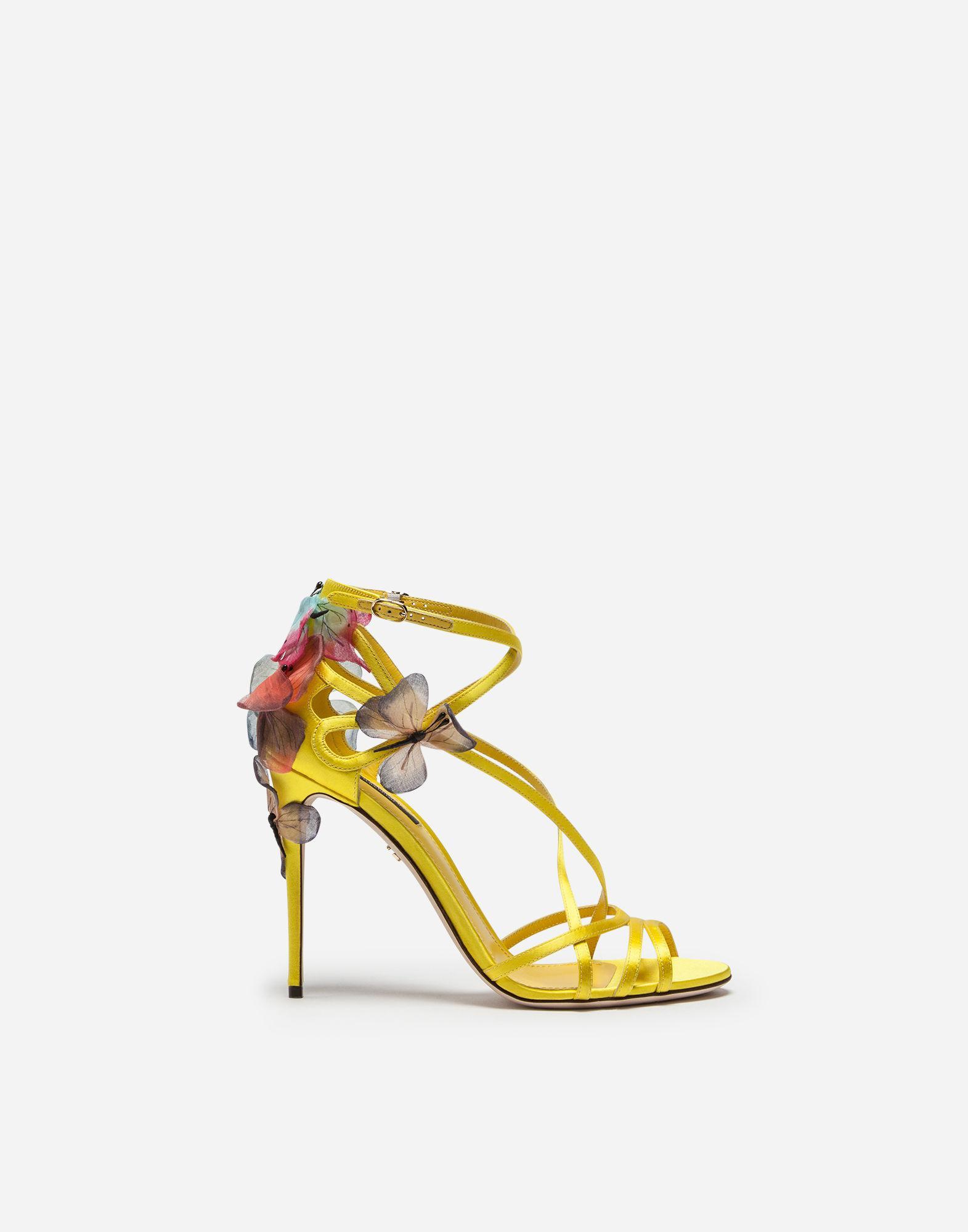 Dolce & Gabbana Sandales Keira Papillon © S Appliqués - Jaune Et Orange bOoaofgFnK