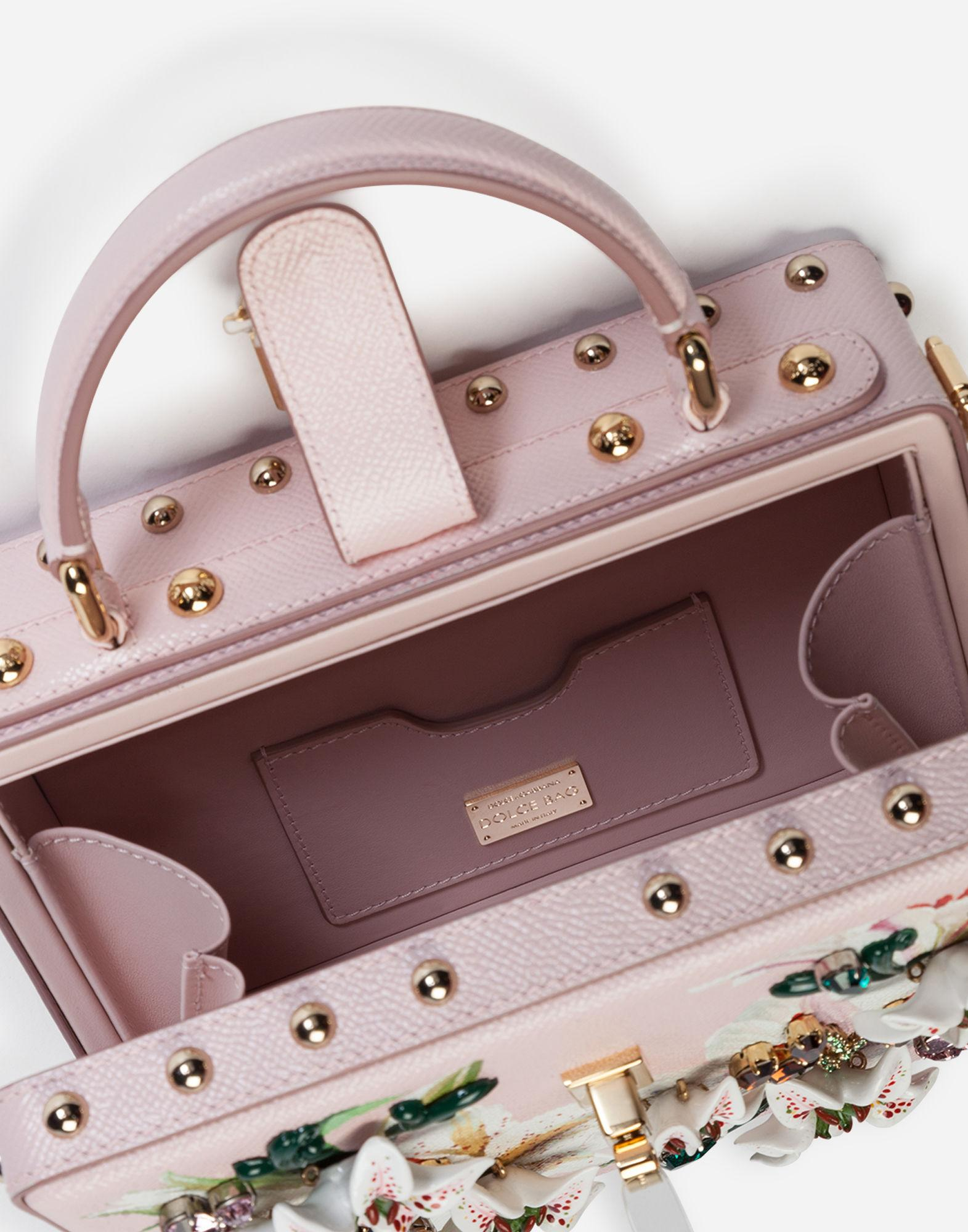 29a90be53e Dolce & Gabbana Dolce Box Bag In Lily-print Dauphine Calfskin With  Embroidery - Lyst