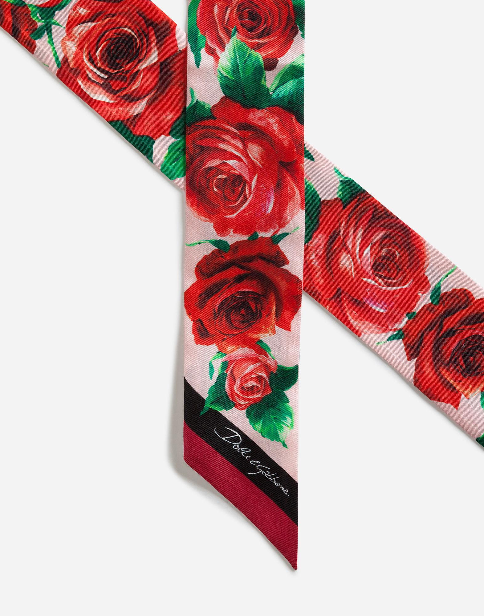 bda8aa832 Lyst - Dolce & Gabbana Printed Silk Headband in Red