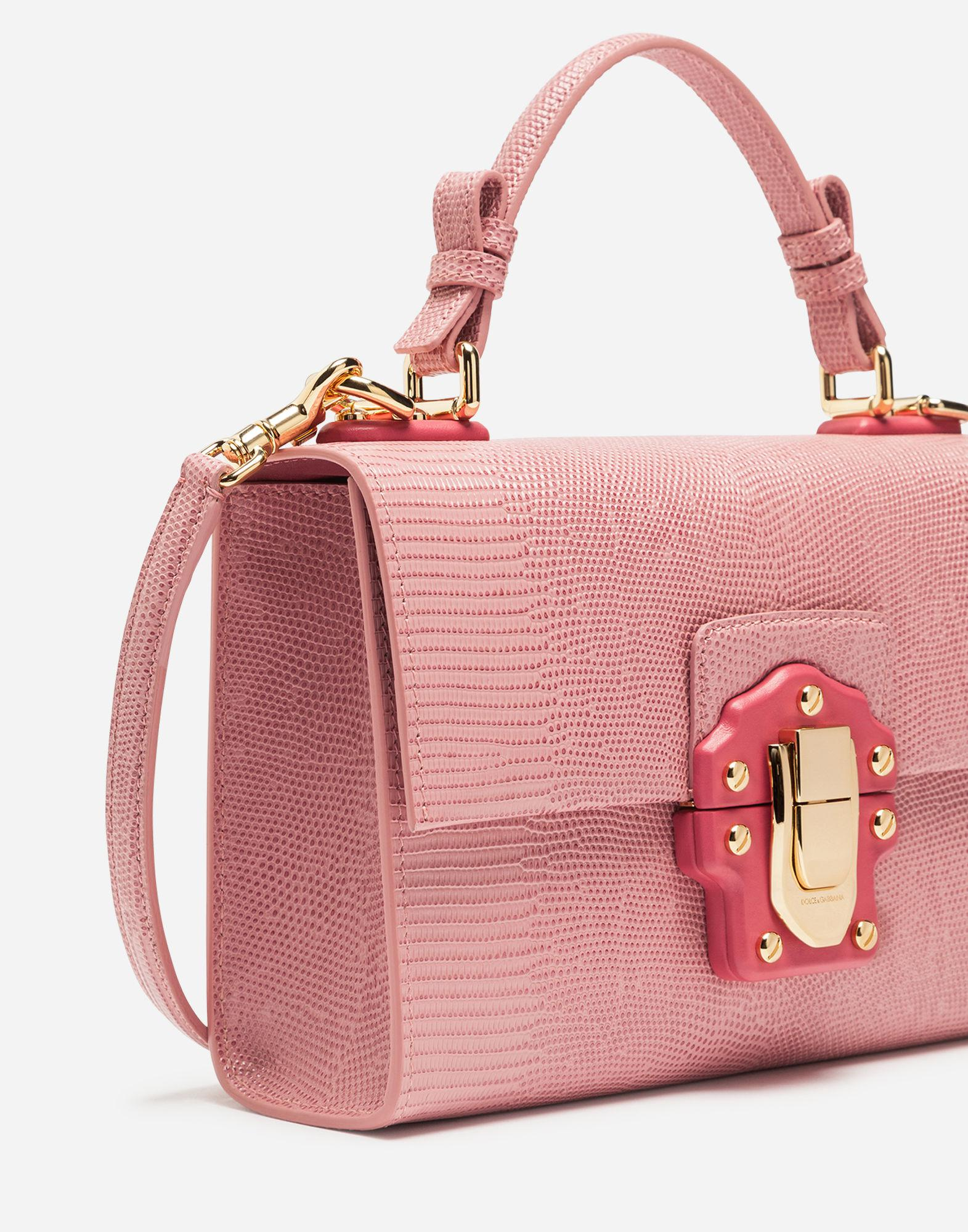 Lyst - Dolce   Gabbana Lucia Top Handle Bag In Calfskin in Pink f3674f4d9c9a6