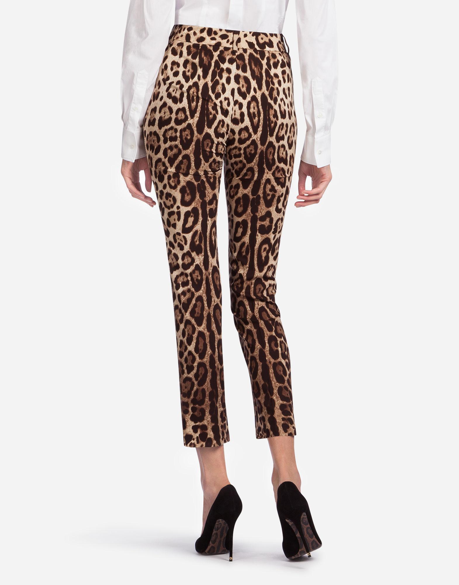 70e0540989d3 Dolce & Gabbana Leopard Print Cady Pants - Lyst